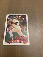 Jim Rice #245 Topps 1989 Baseball Card (Boston Red Sox) VG