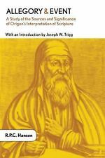 Allegory and Event Study of the Sources Significance of Origen's Interpretation