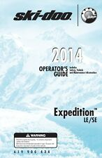 Ski-Doo owners manual book 2014 Expedition LE & Expedition SE with 1200 4-TEC