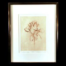 """Salmon Rose"" Etching by Ramona Hammerly, signed"