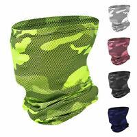 Ice Silk Scarf Neck Gaiter Bandana Half Face Mask Headband Face Cover Balaclava