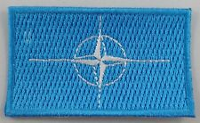 Nato Flag Patch Embroidered Iron On Applique