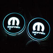2PCS LED Car Cup Holder Pad Mat for MOPAR Auto Atmosphere Lights Xmas Gift