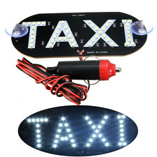 Auto White 45 LED Cab Taxi Roof Sign Light 12V Vehical Inside Windscreen LampTCE