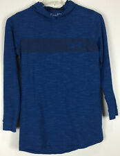 mens under armour hooded pullover Medium Fitted Blue Cotton Blend