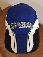 Alaska Electric Blue/White/Black Cap Hat Adjustable