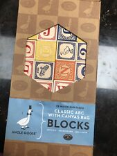 Uncle Goose Classic ABC Blocks Handmade With Bag