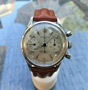 Gorgeous LEMANIA 105 Chronograph CAL1275 TWO-REG STAINLESS MEN'S WATCH