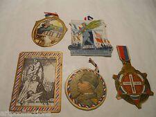 LOT 5 INSIGNES JOURNÉE GUERRE 1914 1918 POILUS