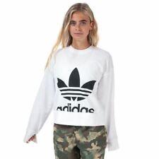Women's adidas Originals Crew Neck Regular Fit Sweatshirt in White