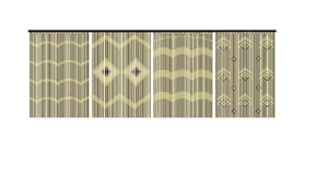 JVL BEAUTIFUL WOODEN & BAMBOO BEADED DOOR CURTAIN BRAND NEW 90 x180cm