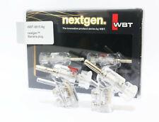 WBT 0610ag 0610 silver red white Banana connector plug *4pcs /1set  freeshipping