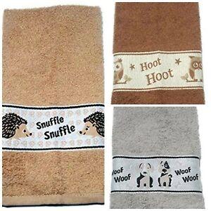 Harwoods Animal Friends Kitchen towels, Owl, Dog or Hedgehog, Hand / Tea towel,