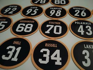 Pittsburgh Steelers Magnets - Defensive Players jersey design - Select players!