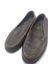 Men's ROCKPORT adiPRENE by adidas Driving Brown Leather Slip On Shoes Size 7.5