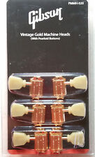 GIBSON Les Paul Klusen Gold Deluxe Tuners Pearloid Buttons Genuine USA PMMH-020