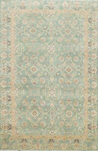 Vegetable Dye Floral Super Kazak Oriental Area Rug Hand-Knotted Wool 6x8 Carpet