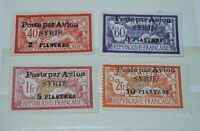 FRENCH COLONIES, (SYRIA) COMPLETE SET MH, AIRMAIL. 1924, YVERT 18-21.