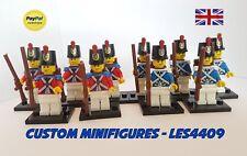 10pc Red & Blue Coat | Military | Soldier Custom Minifigure + FREE LEGO BRICK UK