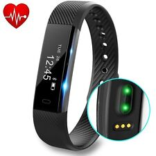 Fitness Activity Tracker with Heart Rate Monitor Pedometer Step Calorie Counter