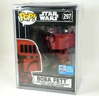 Funko POP Boba Fett RED Target Wonder Con Hard Stack Protector Star Wars NEW