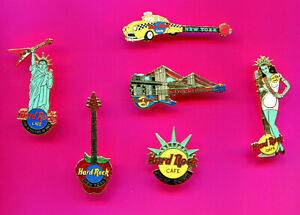 HARD ROCK CAFE PIN NEW YORK CITY GUITAR PINS & MORE PICK A 1-2-3 ADD TO CART