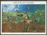 #3506 34c Great Plains Prairie, Souvenir Sheet, Mint