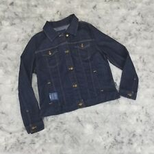 Patagonia Denim Jacket Women's XL Dark Wash Jeans Organic Cotton Slim Fit NWT