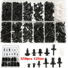 350pcs 12 Sizes Car Push Retainer Pin Rivet Trim Clip Panel Moulding Assortments