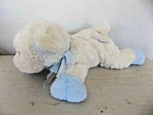 Family Christian/Mary Meyer JESUS LOVES ME Musical Plush White Blue Easter Lamb