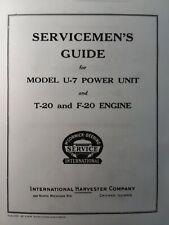 T 20 F 20 U 7 Mccormick International Tractractor Crawler Tractor Service Manual