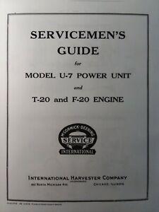 T-20 F-20 U-7 McCormick International TracTracTor Crawler Tractor Service Manual