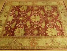 9 x 12 Handmade Hand Knotted Oushak Rug Vegetable Dye Hand Spun Fine Soft Wool