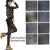 NEW Ladies Black Thick Winter Leggings Soft Fleece Lining Inside Women