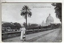 cartolina postcard - SS. PIO X NEI GIARDINI DEL VATICANO