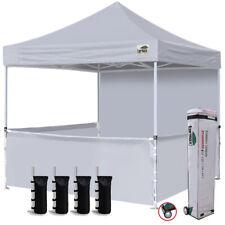 10x10 Ez Pop up Canopy Instant Party Tent Trade Show Gazebo w/ Side Walls Grey