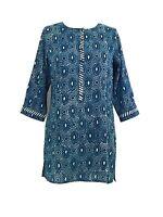 Anokhi Indigo Circles Cotton Tunic
