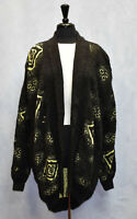 D0 ESCADA By MARGARETHA LEY Wool Mohair Oversized Open Cardigan Sweater Sz EU 40