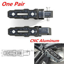 Pair of CNC Aluminum Rear Motorcycle Anti-Skid Widened Foot Rest Pedal Motorbike