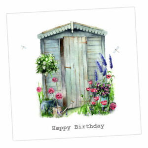 Crumble and Core  HAPPY BIRTHDAY CARD   Pretty Garden Shed