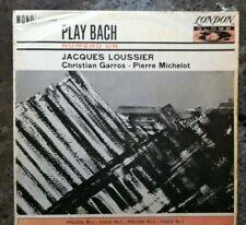Play Bach. Numero Un. Jacques Loussier. Vinyl LP Album. London Globe. Mono.