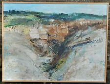 Sommieres. Original Expressionist Oil by listed artist Barbara Robinson 1970