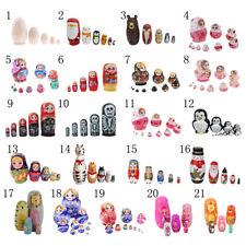Various Traditional Wooden Russian Nesting Dolls Matryoshka Babushka Toy 5/10pcs