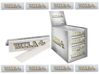 RIZLA SILVER REGULAR SIZE SLIM ULTRA THIN CIGARETTE SMOKING ROLLING PAPERS 5 10