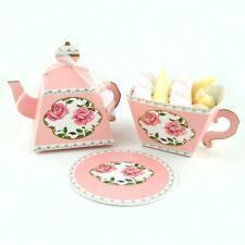 25Pcs Tea Pot Cup Candy Boxes Sweet Gift Christmas Wedding Party Favour Bags