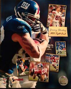 JEREMY SHOCKEY Scapbook Series 8X10 PHOTO New York Giants