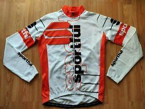Sportful Men's LS Thermal Fleece Cycling Jacket White/ Black/Orange Size: M
