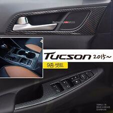 Carbon Fiber interior Molding Kit 9Pcs For Hyundai All New Tucson 2016+