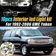Xenon White LED Interior Light Kit Package 19 bulbs FIT GMC Yukon 1995-99 W1