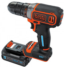 BLACK & DECKER 20V Drill Driver, 3/8-in Cordless w Battery & Charger BDCDDBT120C